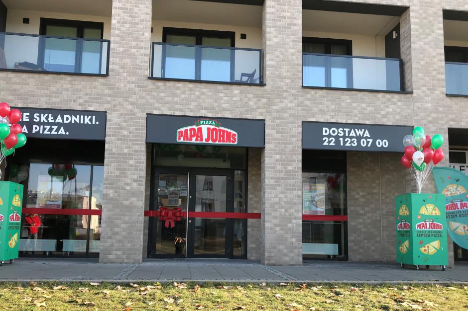 Pizzeria Papa John's z lokalem na Wilanowie