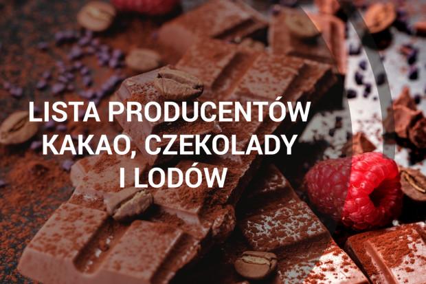 Lista producentów kakao, czekolady i lodów - edycja 2018