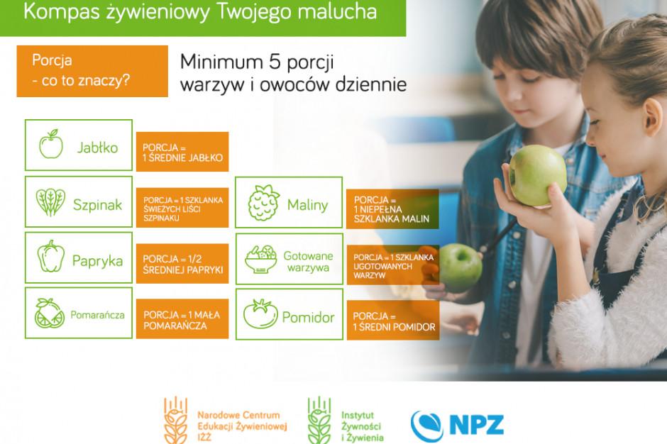 IŻŻ o roli owoców i warzyw w diecie dziecka