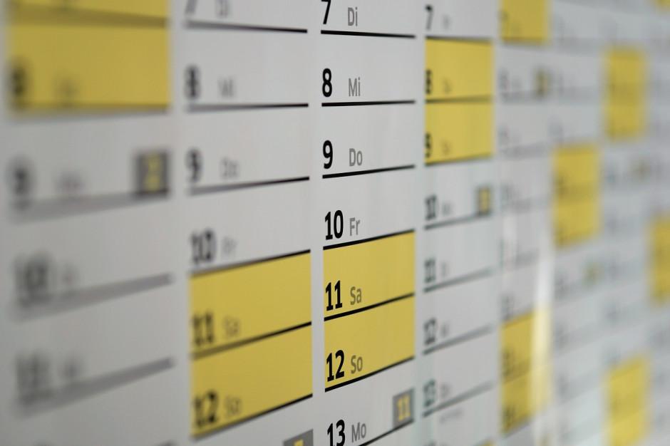 Kalendarium wydarzeń gospodarczych roku 2018