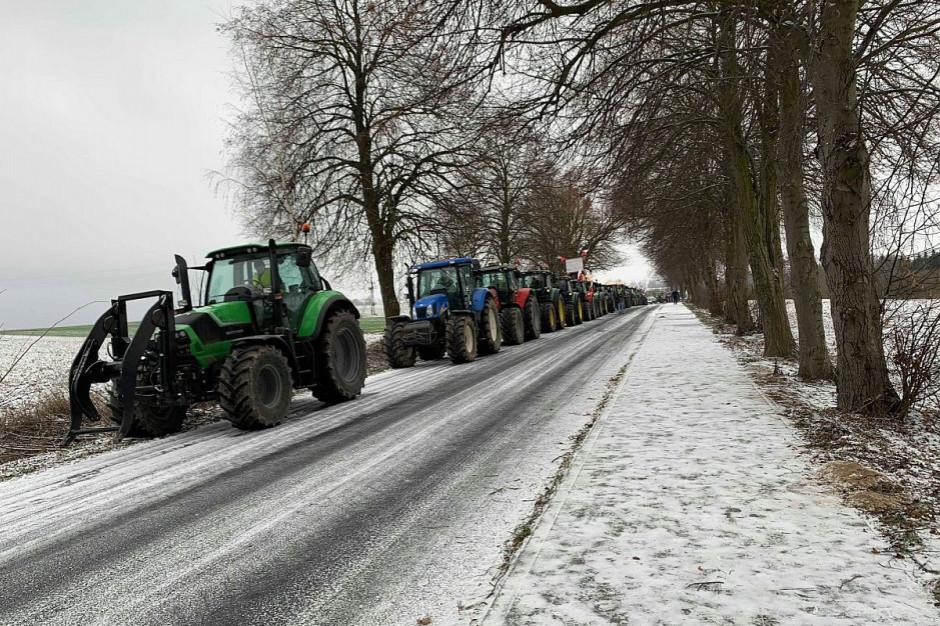 Wielkopolscy rolnicy protestują w Pile