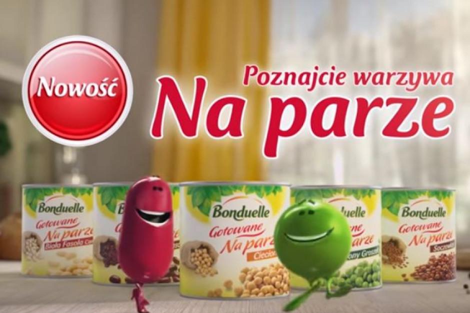 Bonduelle reklamuje warzywa przygotowane na parze w TV
