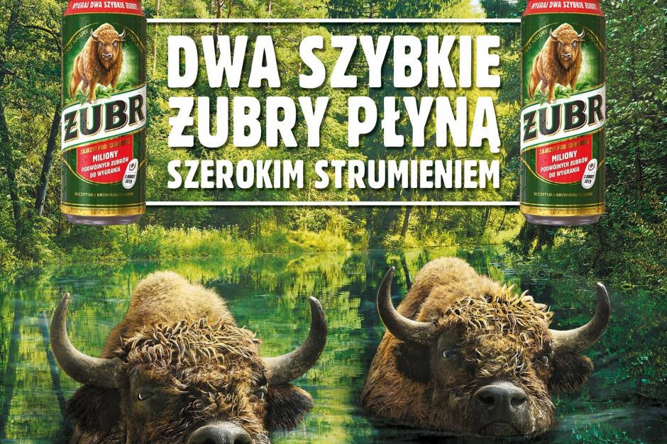 """Żubr z nowym spotem reklamowym """"Dwa Szybkie Żubry"""""""