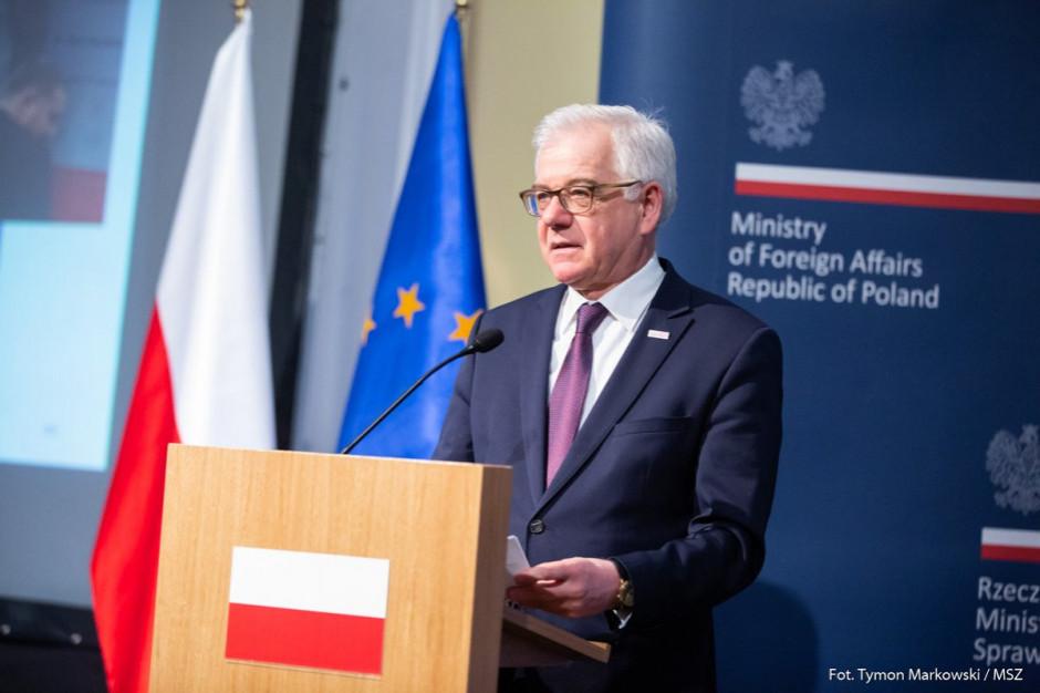 Szef MSZ: UE docenia działania Polski w sprawie nielegalnego uboju