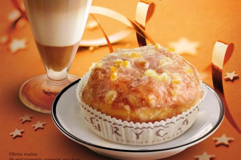 Pączek z kawą, herbatą lub czekoladą w tłusty czwartek u Grycana
