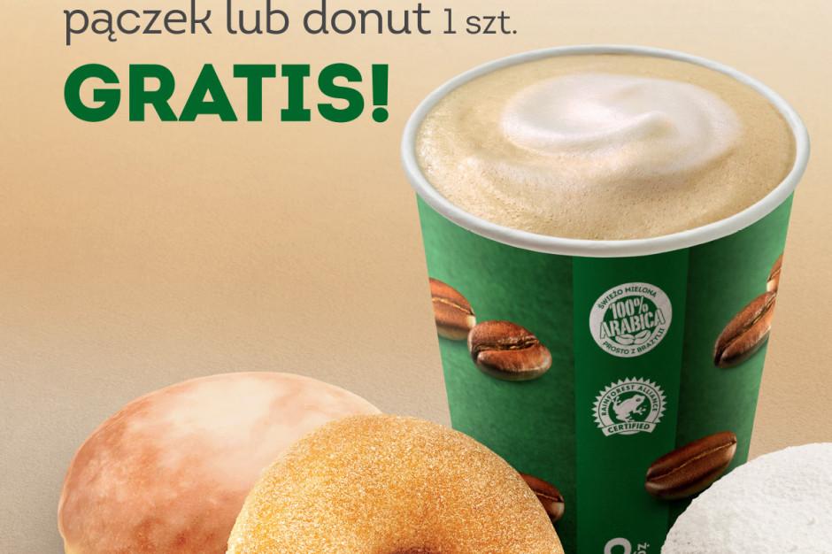 W Żabka Cafe pączki do kawy gratis
