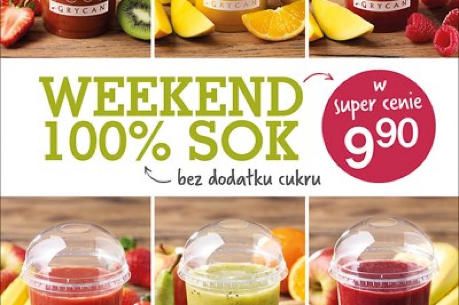 Weekend z sokami 100% z owoców u Grycana