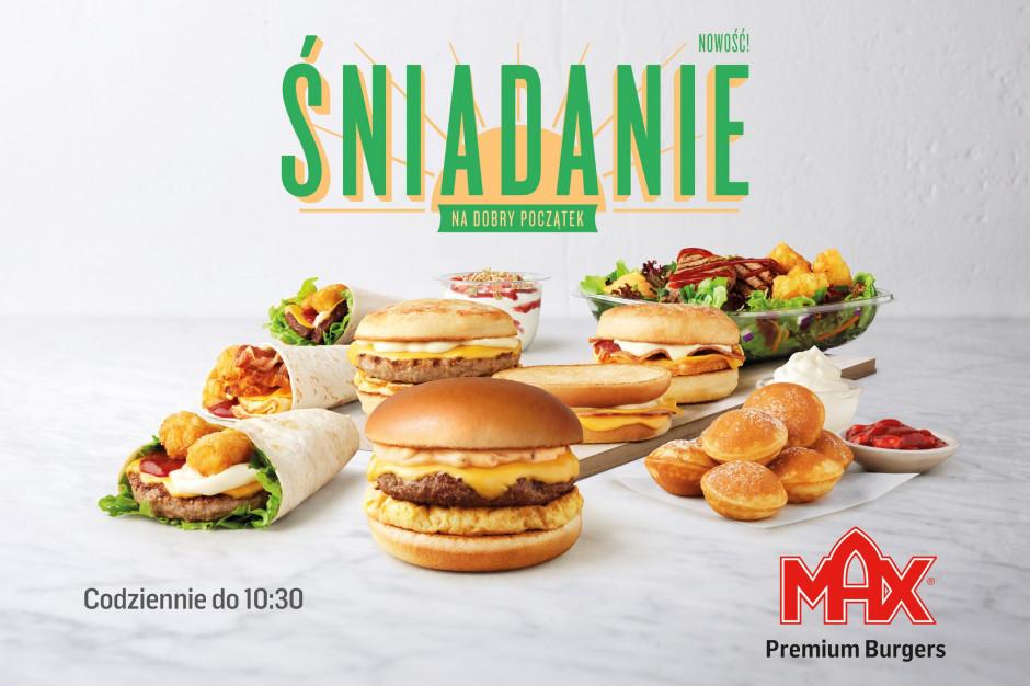 MAX Premium Burgers wprowadza menu śniadaniowe