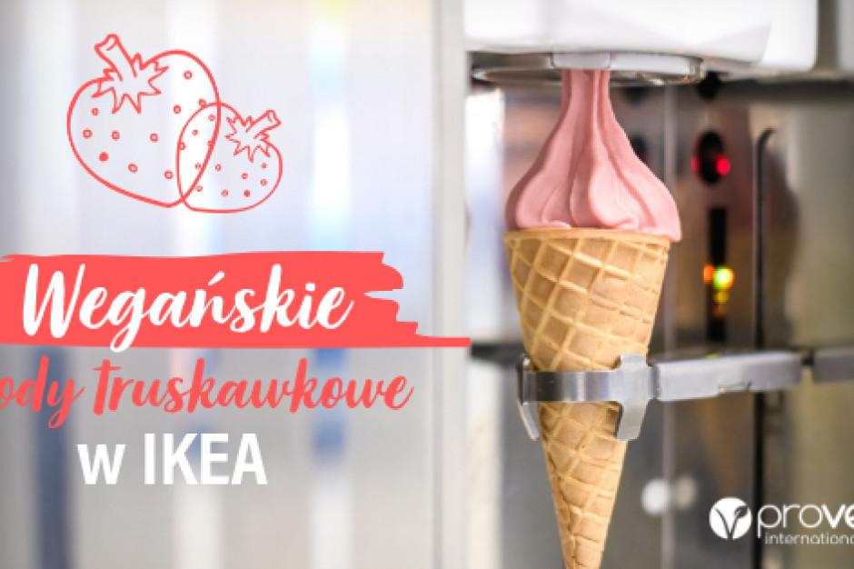 IKEA wprowadziła wegańskie lody truskawkowe