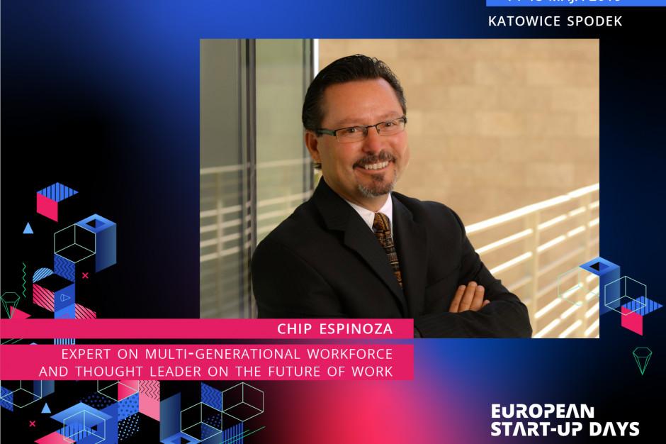 Chip Espinoza, badacz pokolenia milenialsów, weźmie udział w European Start-up Days w Katowicach