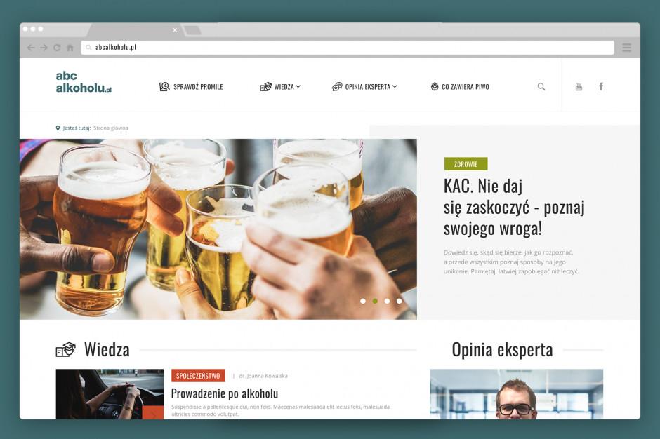 Strona edukacyjna abcalkoholu.pl w nowej odsłonie