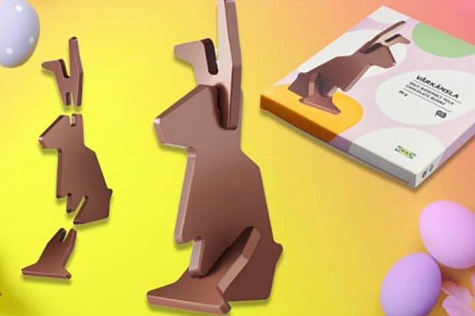 IKEA: W sprzedaży czekoladowy zajączek, którego trzeba samodzielnie złożyć
