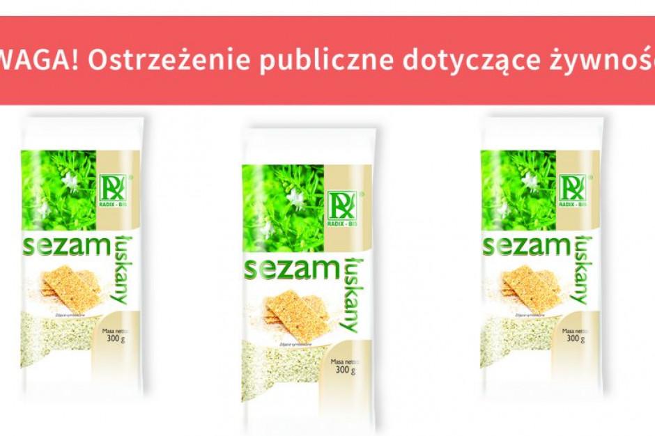 GIS ostrzega o salmonelli w sezamie łuskanym
