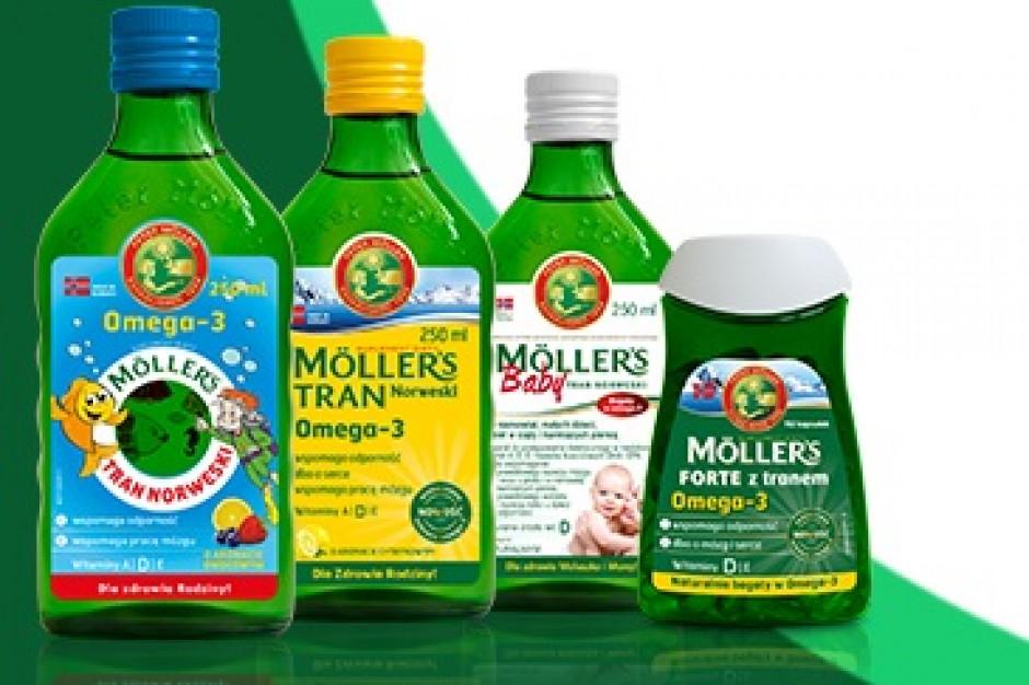 Wszystkie butelki Möller's Tran Norweski z niebieskim certyfikatem MSC