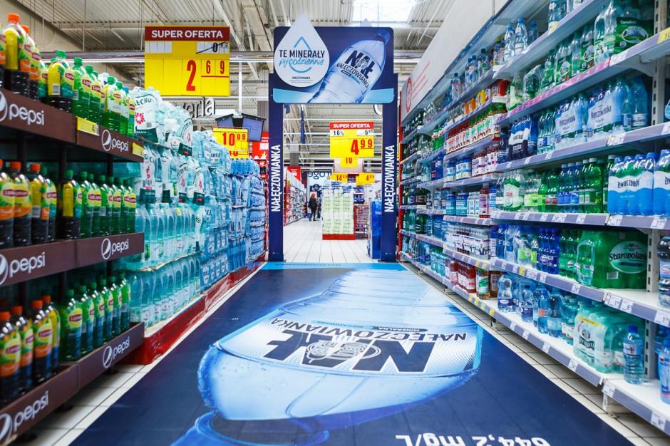 Rebranding marki Nałęczowianka zrealizowany w sieci Carrefour