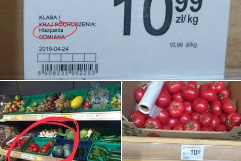 Hiszpańskie pomidory jako polskie w Delikatesach Centrum?