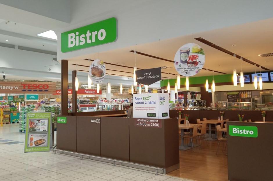 Tesco rezygnuje z jednorazowych sztućców i talerzy w Bistro