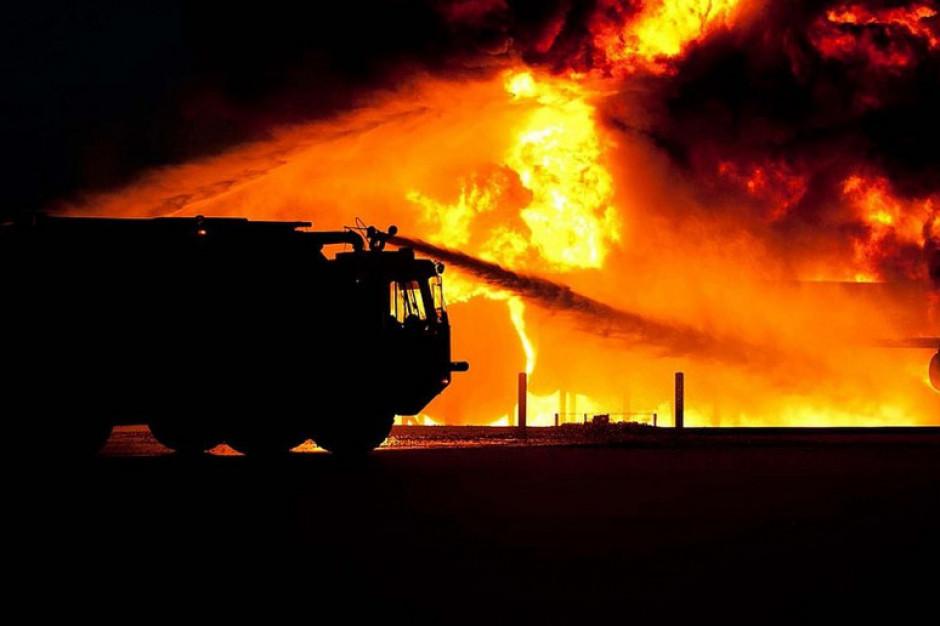 Pożar na fermie drobiu