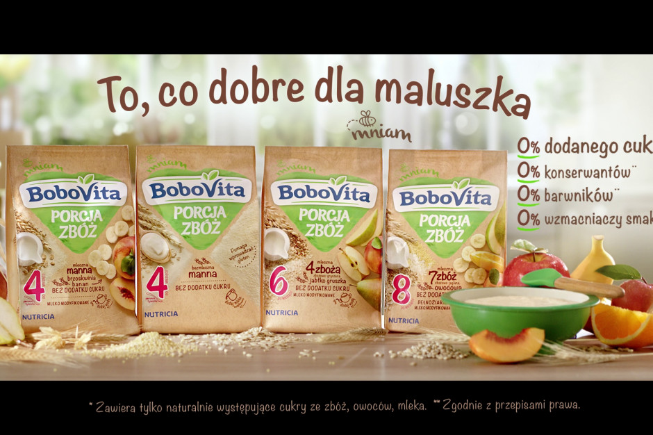 kaszki BoboVita PORCJA ZBÓŻ w nowej kampanii marki
