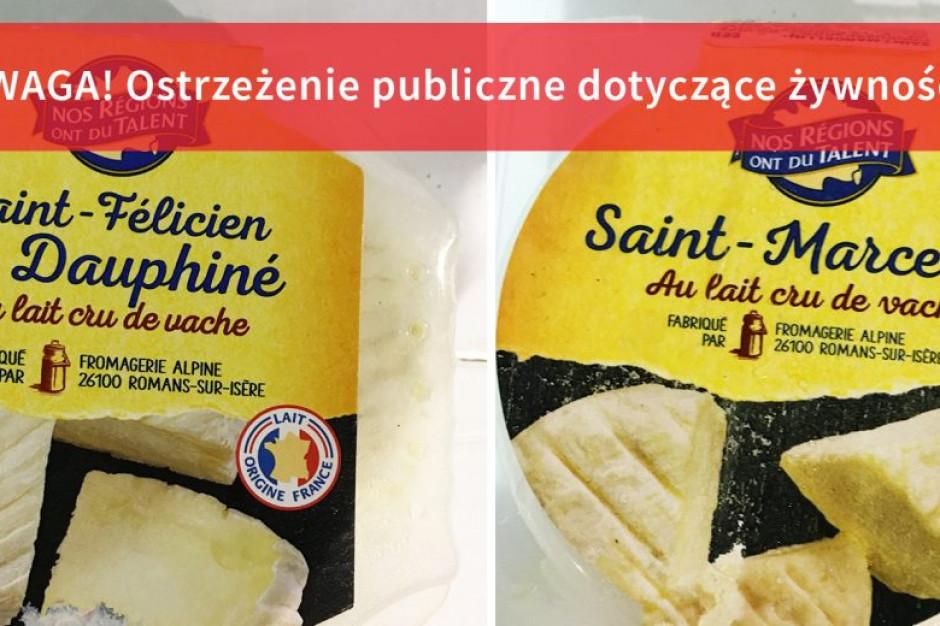 GIS: wycofanie dwóch rodzajów sera z surowego mleka, możliwe zanieczyszczenie E. coli