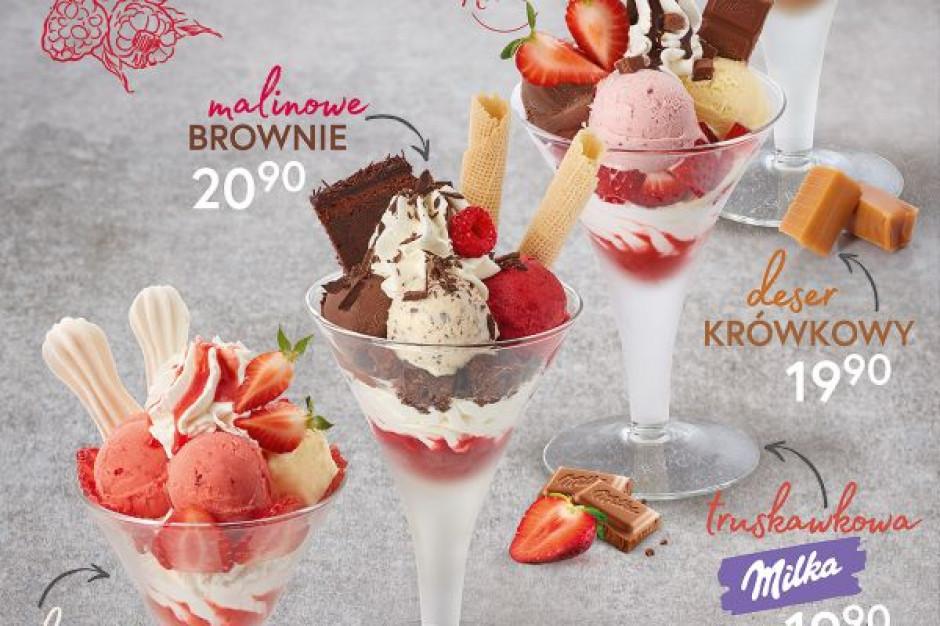 Nowe desery lodowe u Grycana