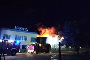 Płonie hala produkcyjna firmy Iglotex w Skórczu
