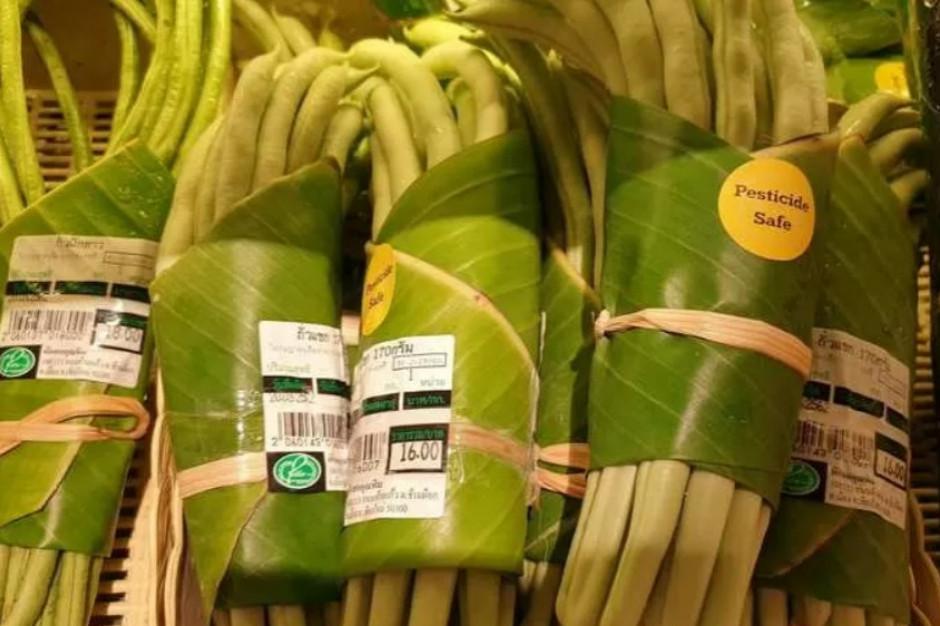 Tajlandia: Opakowanie z liści bananowca zamiast plastiku