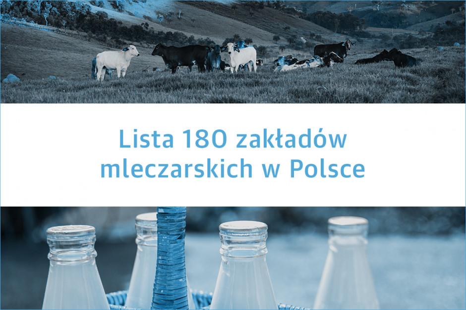 Lista 180 zakładów mleczarskich w Polsce - edycja 2019
