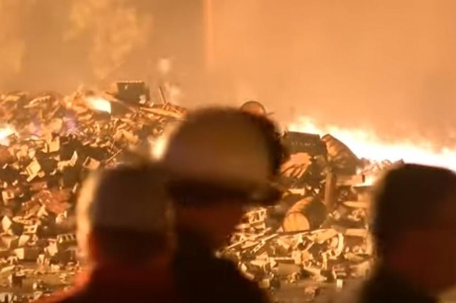 USA: W pożarze spłonęło 45 tys. beczek whisky Jim Beam (wideo)