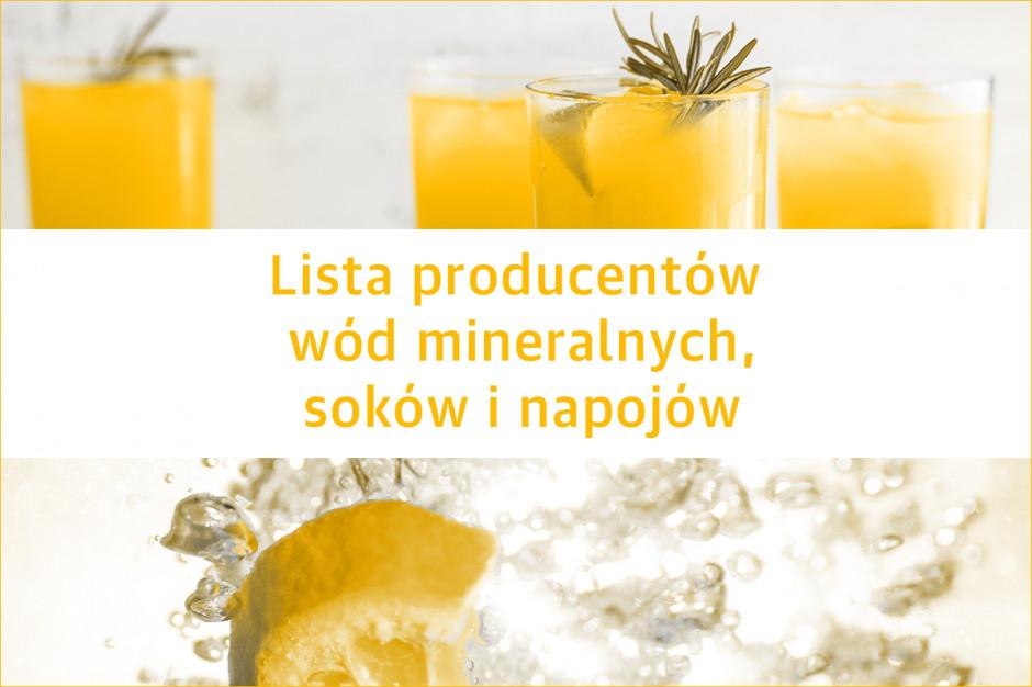 Lista producentów wód mineralnych, soków i napojów - edycja 2019