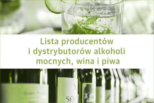 Lista producentów i dystrybutorów alkoholi mocnych, wina i piwa - edycja 2019