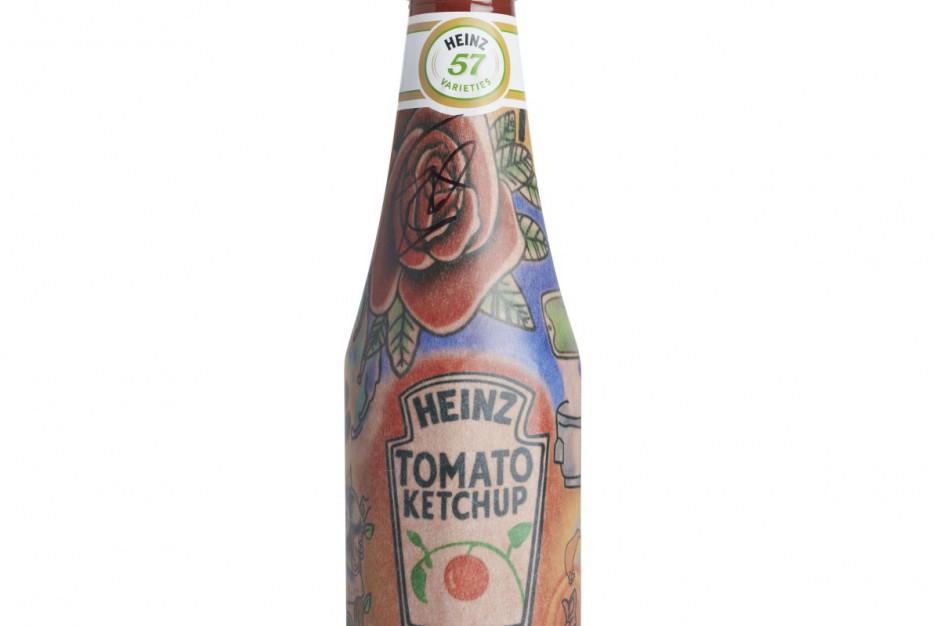 Limitowane butelki ketchupu Heinz z tatuażem Eda Sheerana