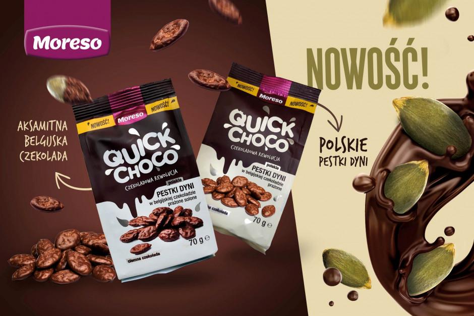 Moreso z nową przekąską w portfolio. Wprowadza Quick Choco - pestki dyni w czekoladzie