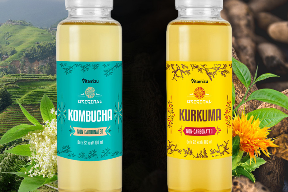 Napoje Kombucha i Kurkuma to kolejne produkty od firmy Vitamizu