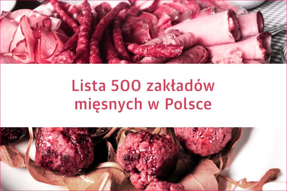 Lista 500 zakładów mięsnych w Polsce - edycja 2019