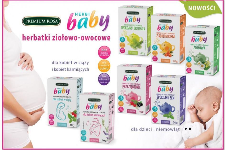 Owocowo – ziołowe herbatki Herbi Baby dla dzieci, kobiet w ciąży i karmiących - zdrowa alternatywa dla wody