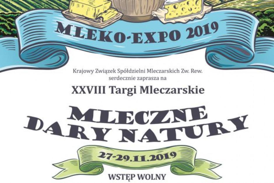 """Targi Mleczarskie """"Mleko-Expo 2019"""" odbędą się 27-29 listopada 2019 r."""