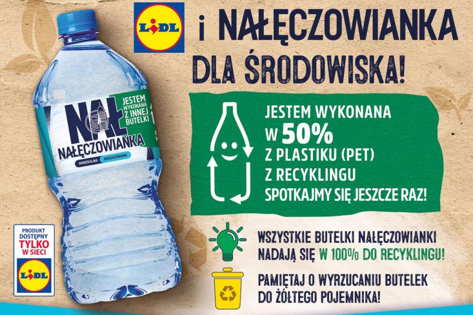 Lidl sprzedaje wodę Nałęczowianka w butelkach z recyclingu