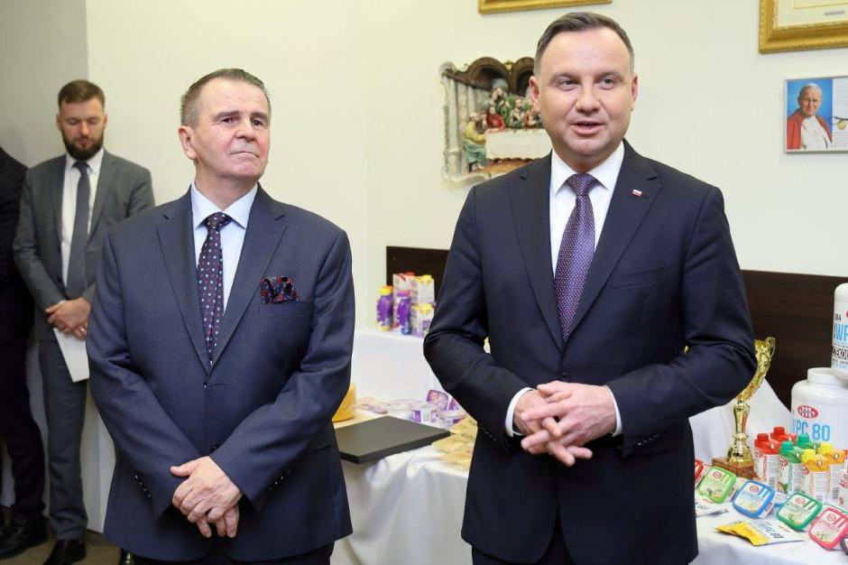 Prezydent Andrzej Duda z wizytą w centrali Mlekovity