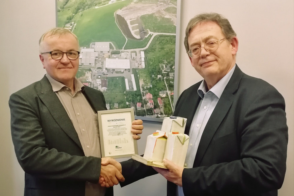 Fundacja ProKarton przyznała wyróżnienia Instalacjom Komunalnym, które wysortowują najwięcej kartonów po mleku i sokach