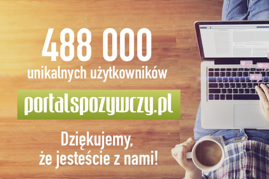 488 tysięcy - rekordowa liczba użytkowników portalspozywczy.pl w listopadzie! Dziękujemy!