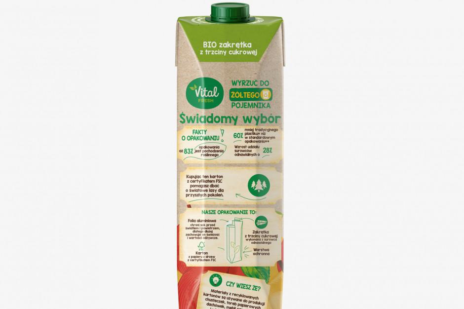 Soki Vital Fresh w bio opakowaniach dostępne we wszystkich Biedronkach w kraju
