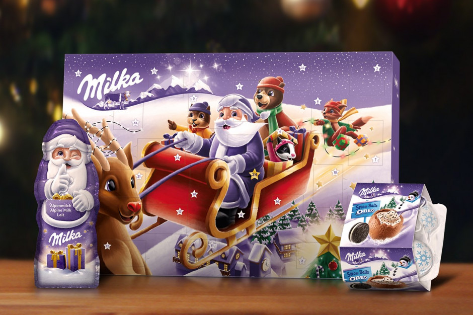 """Świąteczna kampania czekolad Milka """"Obdaruj tych, którzy dzielą się sercem"""""""