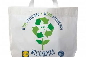 Zdjęcie numer 1 - galeria: Lidl wprowadza wielorazowe torby na zakupy z recyklingu