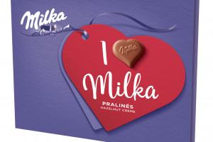 """Personalizowane praliny """"I love Milka"""" na Walentynki"""