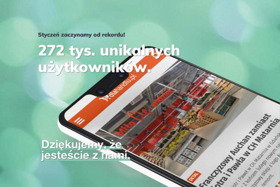 Rekordowy styczeń serwisu Dlahandlu.pl
