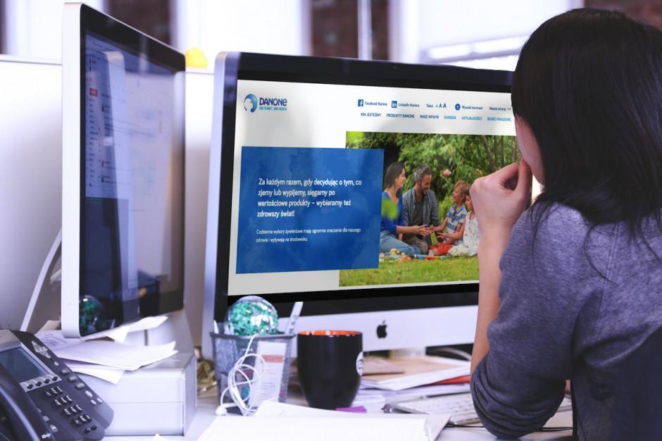 Danone dostosowuje serwis internetowy do potrzeb osób niedowidzących