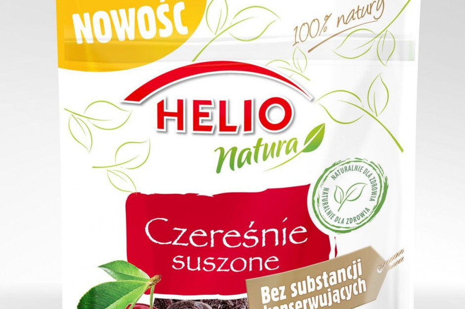 Nowość 2020. Czereśnie suszone Helio Natura. Czereśniowy smak lata… o każdej porze roku!