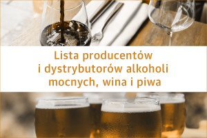 Lista producentów i dystrybutorów alkoholi mocnych, wina i piwa - edycja 2020