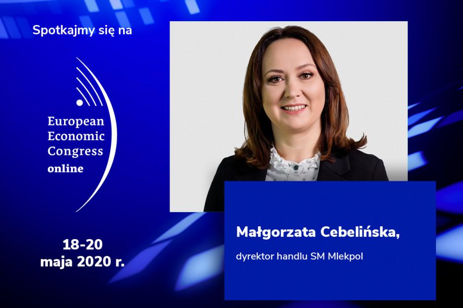Małgorzata Cebelińska, dyrektor handlu SM Mlekpol, będzie jednym z prelegentów EEC Online.